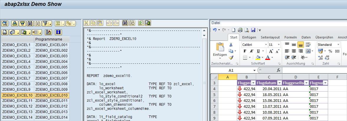 ABAP2XLS Democenter