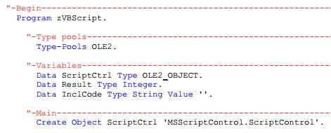 Der Beginn einer wunderbaren Freundschaft – VBScript nahtlos mit ABAP nutzen