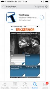 Tricktresor-App AppStore