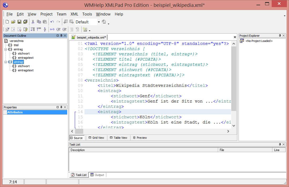WMHelp – XMLpad-Editor [Tool]