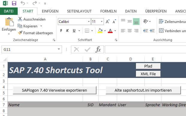 SAPLogon Shortcuts wiederherstellen
