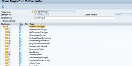 Automatisierte Qualitätsprüfung mit SAP Code Inspector und ABAP Test Cockpit